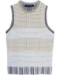 Proenza Schouler Woman Striped Stretch-knit Top Yellow Size M Proenza Schouler Buy Cheap Affordable Clearance Browse Sale New Arrival riDGu1bEu