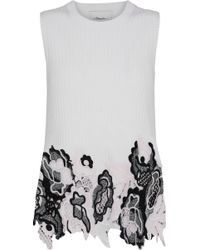814705730c96f 3.1 Phillip Lim - Woman Guipure Lace And Metallic Ribbed Wool-blend Top  Ivory -