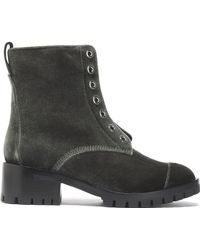 3.1 Phillip Lim - Velvet Boots Forest Green - Lyst