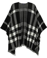 Splendid - Fringe-trimmed Checked Jacquard-knit Wrap - Lyst