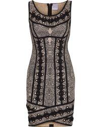 Hervé Léger - Agnese Lace-up Jacquard-knit Bandage Mini Dress - Lyst