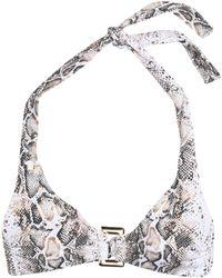 Heidi Klein - Embellished Snake-print Bikini Top - Lyst