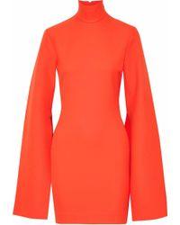 Solace London - Franklin Crepe Turtleneck Mini Dress - Lyst