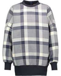 Adam Lippes - Plaid Wool-blend Sweatshirt - Lyst