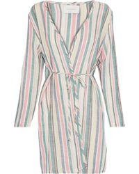 Solid & Striped - The Erin Striped Cotton-blend Gauze Robe - Lyst