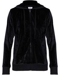 DKNY - Metallic Velour Hooded Pyjama Top - Lyst