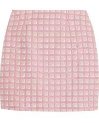 Alexander Lewis - - Morningside Cotton-jacquard Mini Skirt - Baby Pink - Lyst