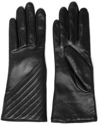 Rag & Bone - Woman Quilted Leather Gloves Black - Lyst