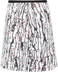 Carven - Printed Neoprene Mini Skirt - Lyst