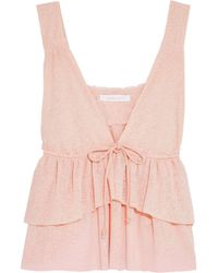 See By Chloé - Tiered Stretch-knit Top - Lyst