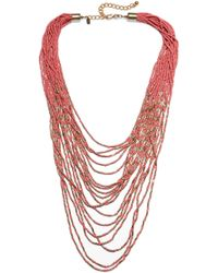 Kenneth Jay Lane - Gold-plated Beaded Necklace - Lyst