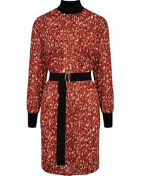 By Malene Birger - Belted Printed Cotton Dress - Lyst