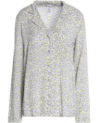 Calvin Klein - Printed Voile Pyjama Top - Lyst