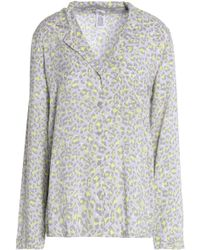 Calvin Klein - Printed Voile Pajama Top - Lyst