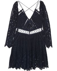 Zimmermann - Riot Eyelet Broderie Anglaise Playsuit - Lyst
