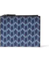 Maje - Printed Textured-leather Clutch - Lyst
