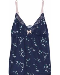 Eberjey - Lace-trimmed Printed Modal-blend Camisole - Lyst