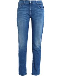7 For All Mankind - Distressed Faded Boyfriend Jeans - Lyst