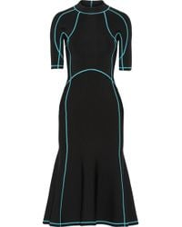 Alexander Wang - Lace-up Stretch-knit Midi Dress - Lyst