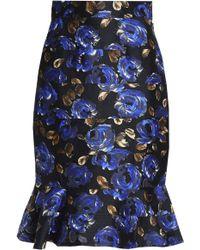 Oscar de la Renta - Knee Length Skirt Royal Blue - Lyst