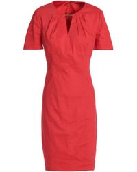 Elie Tahari - Cutout Linen-blend Dress - Lyst