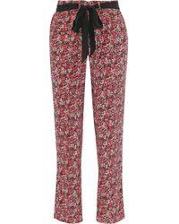 Joie - Julietta Floral-print Silk Tapered Pants - Lyst