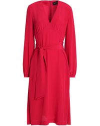 Vanessa Seward - Gathered Silk Crepe De Chine Dress - Lyst
