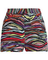 Missoni - Printed Cotton-blend Crochet-knit Shorts - Lyst