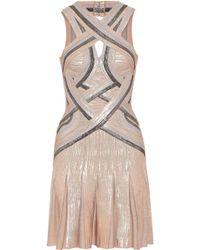 Hervé Léger - Daga Cutout Metallic Bandage Mini Dress - Lyst
