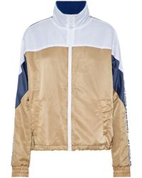 Opening Ceremony - Intarsia Knit-paneled Color-block Shell Jacket - Lyst