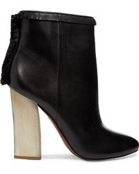3fd4855b068814 Tory Burch - Bandelier Fringed Leather Ankle Boots - Lyst
