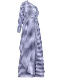 Rosetta Getty One Shoulder Wrap Gown