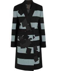 Jonathan Saunders - Eveline Striped Patchwork Appliquéd Coat - Lyst