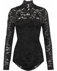 Ganni - Flynn Lace Bodysuit - Lyst