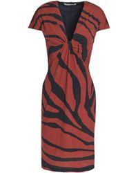 Roberto Cavalli - Twisted Zebra-print Stretch-jersey Dress - Lyst