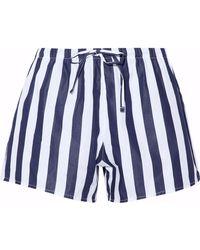 Sleepy Jones | Striped Cotton Pajama Shorts | Lyst