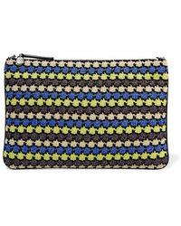M Missoni - - Metallic Crochet-knit Pouch - Black - Lyst