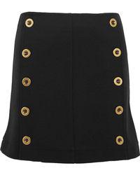 Chloé - Embellished Wool-piqué Mini Skirt - Lyst