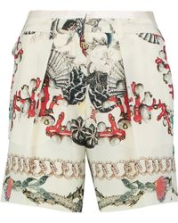 Roberto Cavalli | Print Pleated Short | Lyst