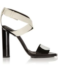 Calvin Klein - Iris Bead-embellished Leather Sandals - Lyst
