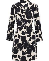 10 Crosby Derek Lam - Ruffle-trimmed Printed Silk Mini Dress - Lyst
