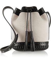 Wendy Nichol - Pony Carriage Mini Lamb Hair And Leather Bucket Bag - Lyst