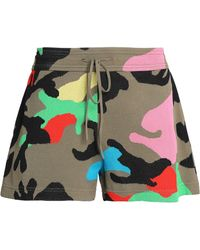 Valentino - Camouflage Jacquard-knit Shorts Army Green - Lyst