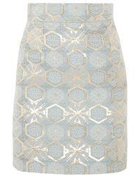 Teatum Jones - - Ivy Jacquard Mini Skirt - Sky Blue - Lyst