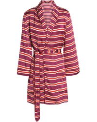 Love Stories - Striped Jersey Robe - Lyst