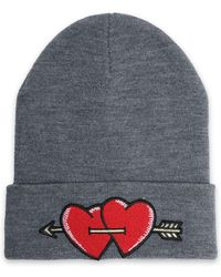 Maje - Embroidered Knitted Beanie - Lyst