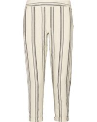 HATCH - Cassie Striped Cotton Tapered Pants - Lyst