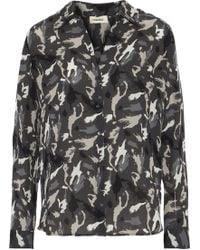 L'Agence - Nina Printed Silk Shirt - Lyst