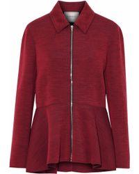 Lanvin - Marled Wool-blend Ponte Jacket - Lyst