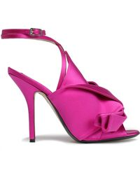 N°21 - Knotted Satin Sandals - Lyst